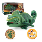 Electric Infrared Remote Control Lights Crawling Chameleon Children's New Strange Bug-catching Tricky Toys