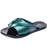 Female Women Summer Fashion Cooler One Word Drag Sand Beach Slipper Non-slip Rubber Solid color