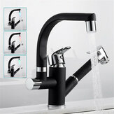 LED Kitchen Sink Faucet Mixer Tap 360° Swivel Spout With Pull Out Bidet Spray Head