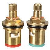 2pcs 1/2 inch Quarter Turn Tap Valve Cartridge Brass Cerâmico Disco Hot Cold Replace