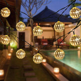 5M / 6.5M / 7M LED Solar Garden String Light Outdoor Marokkaanse Opknoping Lantaarn Fairy Lamp