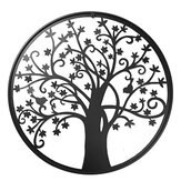 Black Tree Of Life Paint Metal Hanging Wall Art Home Decoration Iron Corridor