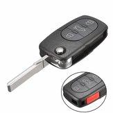 4 Botón coche 315Hz flip clave fob entrada remota sin llave para escarabajo de Volkswagen Golf Jett
