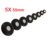 5X 55MM Rubber Wheel For RC Airplane And DIY Robot Tires