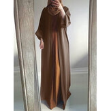 Original              Women Vintage Solid Color Loose Casual Cardigan Abaya Kaftan Long Sleeve Robe
