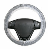 Car Repair Beauty Anti-Pollution PE Disposable Plastic Protective Cover Steering Wheel Cover