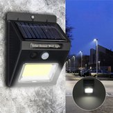 Solar القوة Super مشرق COB 24 LED PIR Motion المستشعر Wall ضوء Outdoor Wireless ضد للماء Lamp