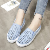 Large Size Hollow Out Slip On Casual Flats Loafers