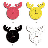 Wapiti Head Creative Wall Clock Living Room Home Cartoon Children's Clock