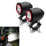 CNSUNNYLIGHT 3400LM 20W 6000K IP67 Motorfiets turbo LED koplampen Flash Stroboscoop