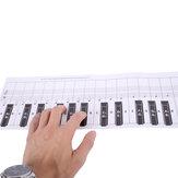 Debbie 88-Key Piyano Klavye Uygulama Kağıt Karşılaştırma Tablosu Standart 1: 1 Taşınabilir Piyano Parmak Uygulama Karşılaştırma Tablosu