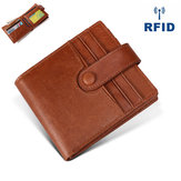 RFID Antimagnetic Genuine Leather 12 Card Slots Wallet