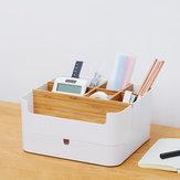 CHENGSHE Almacenamiento de escritorio multifuncional Caja Organizador Bamboo Cosmetic Storage Pantalla Drawer Caja de Xiaomi Youpin
