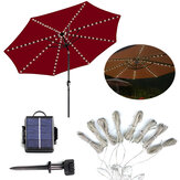 LED Solar Light Outdoor Garden Patio Table Umbrella Parasol Decor String Light
