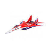 Mig-29 650mm Wingspan Glue-N-Go Foamboard Red EPP RC Airplane Kit