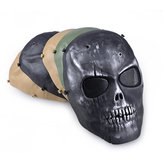 Outdoors CS Masks Dust-proof Anti-spit Protection Face Mask Full Face Guard War Game Airsoft Paintball Skull Masque