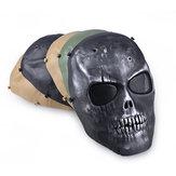 Ao ar livre CS Máscaras Proteção anti-cuspir à prova de poeira Máscara facial Guarda de rosto completo Jogo de guerra Airsoft Paintball Caveira Máscara