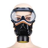 ポリ塩化ビニールのガスマスクのゴーグルが付いている化学スプレー式塗料オイルの煙の塵の保護マスク