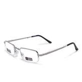 Unisex Tam Metal Çerçeve Katlanabilir Kolay Taşıma Kullanışlı HD Okuma Gözlükler Presbiyopik Gözlükler