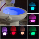 Motion Activated Toaleta Night Light Bowl Łazienka LED 8 kolorów Lampa Sensor Lights