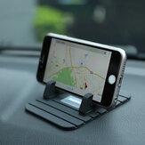REMAX Anti-Scivolo Silicone MorbidoMacchina Tappetino Supporto Contenitore di Caricatore per iPhone Samsung GPS