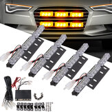 LED Car Grille Light Lampa ostrzegawcza Strobe Light Mini Police Flash 18W 12V Amber 4szt