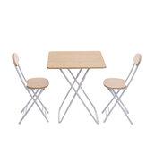 3 Adet Katlanır Masa Sandalye Seti Kare Taşınabilir Yemek Masası Outdoor Kampçılık Piknik BARBEKÜ