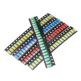 1000Pcs 5 Colors 200 Each 5730 LED Diode Assortment SMD LED Diode Kit Green/RED/White/Blue/Yellow