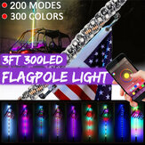 1PC / 2PCS 3FT 4FT 5FT 6FT 5050 RGB LED Asta de bandera látigo Lámpara para Jeep ATV UTV DC12V