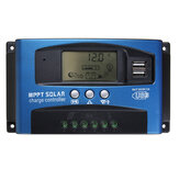 30/40/50/60/100A MPPT Solar Controller LCD Solar Charge Controller Accuracy Dual USB Solar Panel Battery Regulator