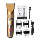 Men's Electric Digital display Hair Clipper USB Charging Hair Shaver W/ 4 Limit Combs