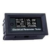 RIDEN® 100V / 20A 7w1 Wielofunkcyjny tester OLED Napięcie Czas prądu Pojemność temperaturowa Woltomierz Amperomierz Miernik parametrów elektrycznych