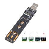 Liangteng USB3.1 - M.2 NVME / SATA Sabit Disk Adaptörü NVME NGFF SATA Dönüştürücü SSD Okuyucu Kartı SDD 2230 2242 2260 2280