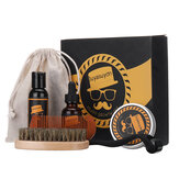 7Pcs Beard Growth Kit Beard Oil Balm Micro Needle Roller Mustache Care Men Hair Re-Activating Grooming Gifts