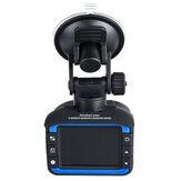 Car DVR Driving Recorder Mobile Radar 2In 1 Detector Dual voice Broadcast Early Warning Instrument