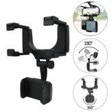 ユニバーサル360度調整可能な携帯電話ホルダー車自動バックミラーマウント携帯電話ホルダーブラケットスタンド3-5.5インチスクリーン携帯電話GPS