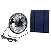 5V Solar Panel + 4inch Cooling Fan with USB Charge for Outdoor Working DIY Part