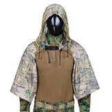 TTGTACTICAL GH28 CP Camouflage Vojenský sniper Ghillie Suit Foundation Outdoor Hunting Tactical Airsoft Sniper Ghillie Jacket