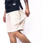 Erkek Yaz Nefes Keten Pamuk Şort Pantolon