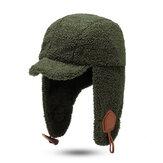 Chapeau de trappeur unisexe en hiver avec chapeau en velours d'agneau