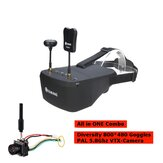 Eachine EV800D 5 Inch 800*480 FPV Goggles + TX06 PAL 700TVL Mini FPV VTX Camera All in ONE Combo