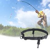 Multi-function Fishing Waist Band Adjustable Nylon Hook Ring Belt Wrist Strap