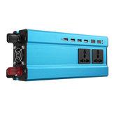 5000W 12V / 24V DC a 220V CA solare Inverter di potenza LED Convertitore sinusoidale modificato blu