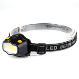 XANES A02 550LM 12 COB LED HeadLamp Ultralight 42g Waterproof Outdoor Camping Hiking Bersepeda Memancing Cahaya AAA Baterai