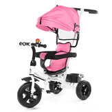 4 In 1 Baby Tricycle Folding Kids Stroller 3 Wheel Bicycle Reverse Toddler for 1-6 Years Old