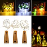 Battery Powered 1M 20LEDs Cork Shaped Silver LED Starry Light Bottle Lamp For Party Christmas Decorations Clearance Christmas Lights