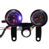 Motorcycle LED Backlight Odometer Speedometer Tachometer Gauge with Bracket