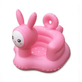 Cartoon Pink Rabbit Inflatable Toys Bathroom Sofa Armchair Learn Portable Multi-functional Safety Dining Chair for Kids Gift
