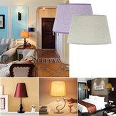 Lâmpada de teto 230 * 300 * 185MM Luminária de lâmpada Lampshape Home Algodão Tecido texturado Linho de PVC