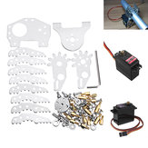 G6 Aluminum Alloy Mechanical Robot Paw DIY Kit With DT-3316 Digital/MG996R Servo